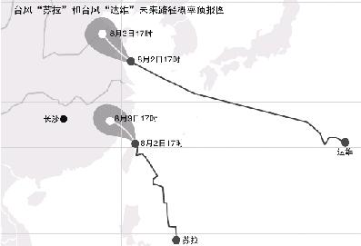 中心附近最大风力有13级(40米/秒),预计将于2日夜间在江苏连云港到