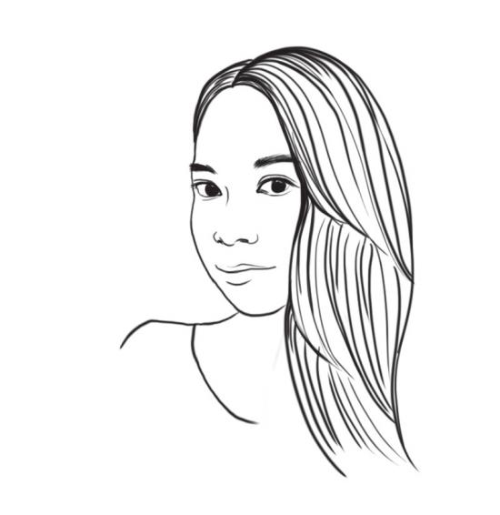 长头发女孩儿简笔画分享展示